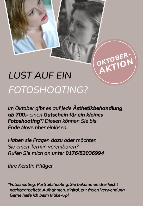 Oktober Aktion Fotoshooting